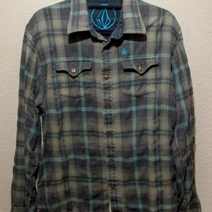 Mens Volcom Button Down Flannel